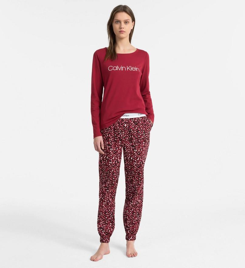 Dámské pyžamo QS6154-MZY červená - Calvin Klein červená XS