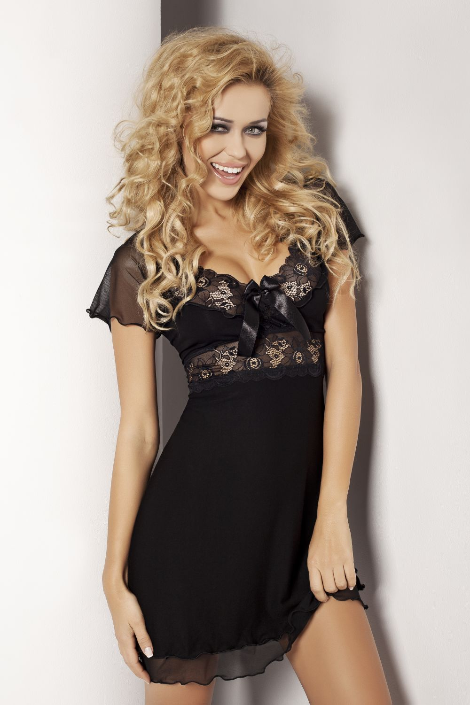 Noční košilka Paulina černá - DKaren černá S