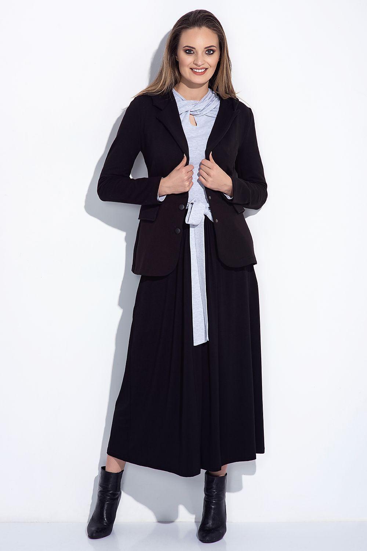 Dámská sukně dlouhá 252 - Bien Fashion šedá melange XXL b1e0af545a