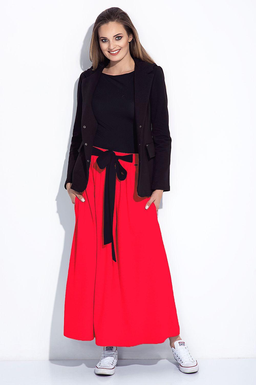 Dámská sukně dlouhá 252 - Bien Fashion šedá melange XXL