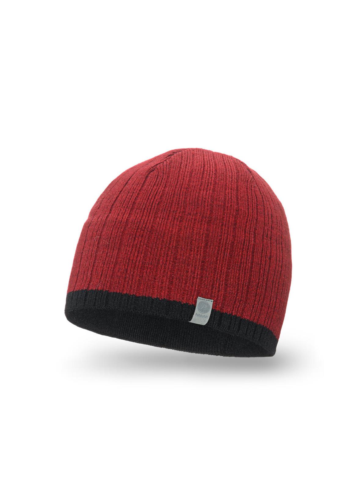 Pánská čepice 18002 - PaMaMi červeno-černá uni eb32d36cfc