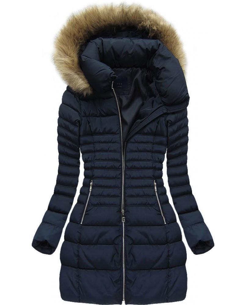 Dámský zimní kabát 886 - G-Stone tmavě modrá XXL
