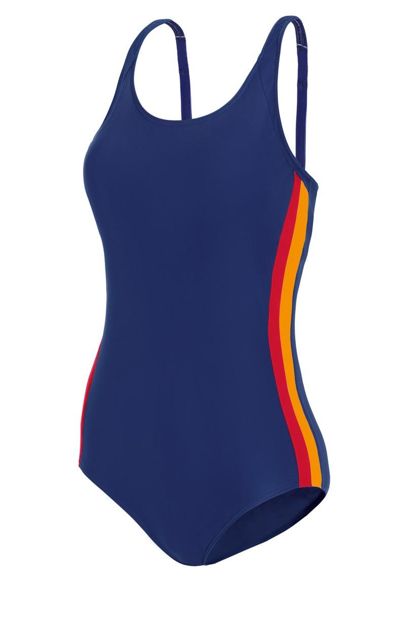44e033714 Dámské jednodílné plavky S 35P 6 - Self královská modř-růžová-oranžová 40/