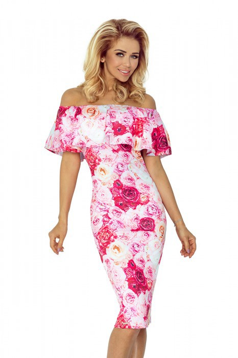 Dámské šaty 138-6 - Numoco růžovo bílá S e27f7e71b3