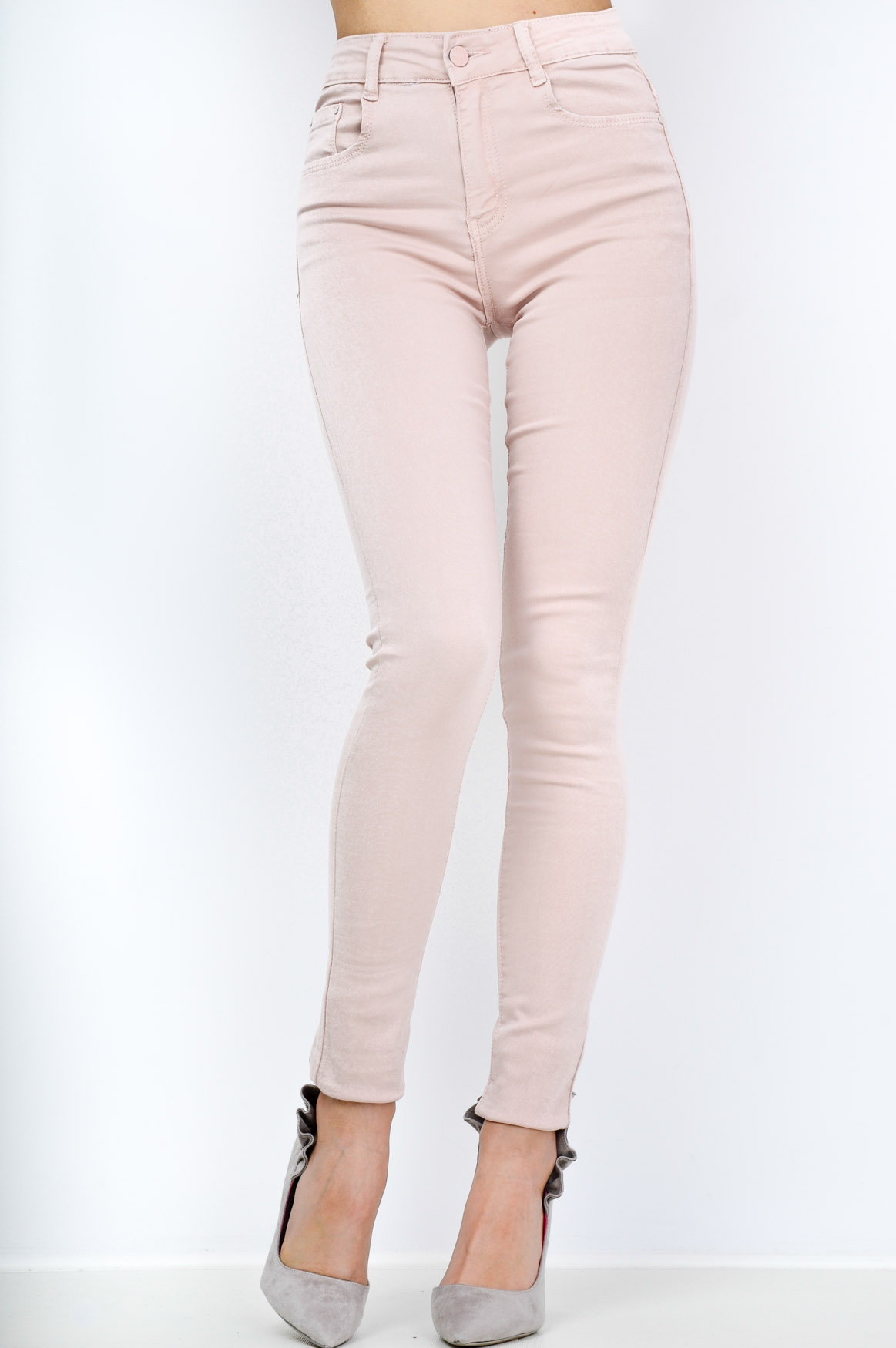 edc021cf9cb5 Dámské tregíny s vysokým pasem Y3030 - B.S. jeans béžová 42