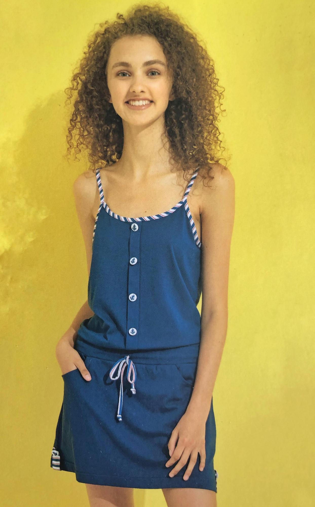 ebc88181dfc2 Dámské šaty na ramínka LA1921 - Noidinotte tm.modrá M
