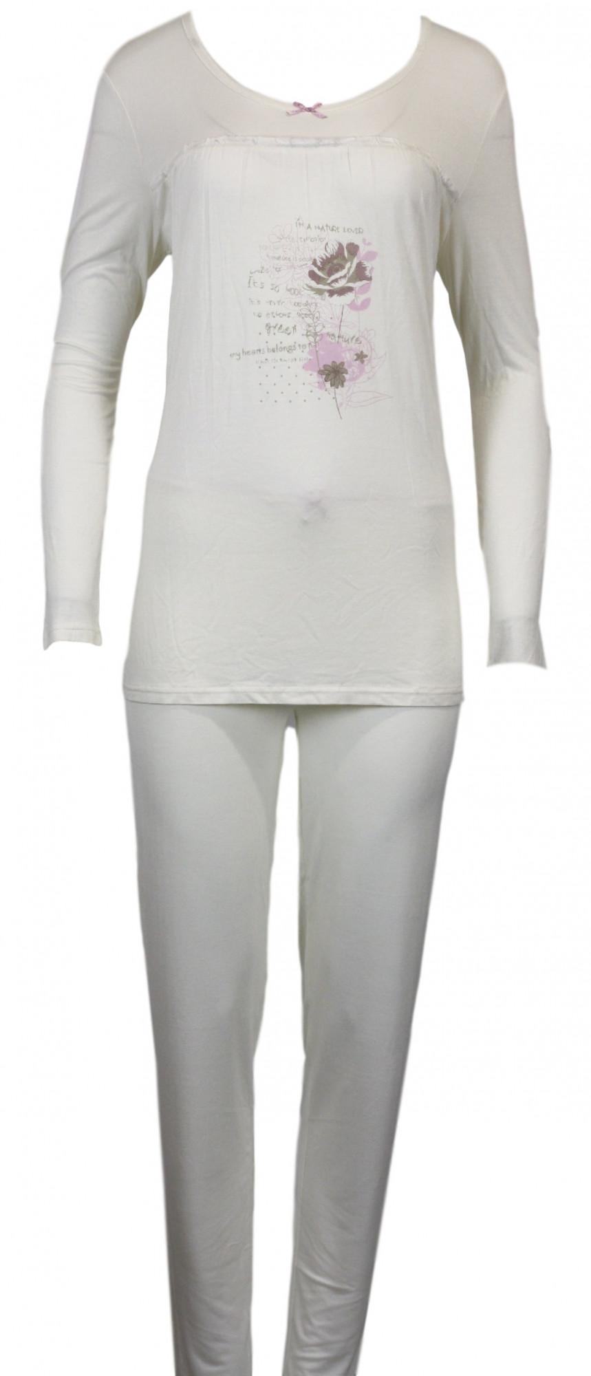 Dámské pyžamo 73736 - Gattina Barva: vanilka, Velikost: 42/44
