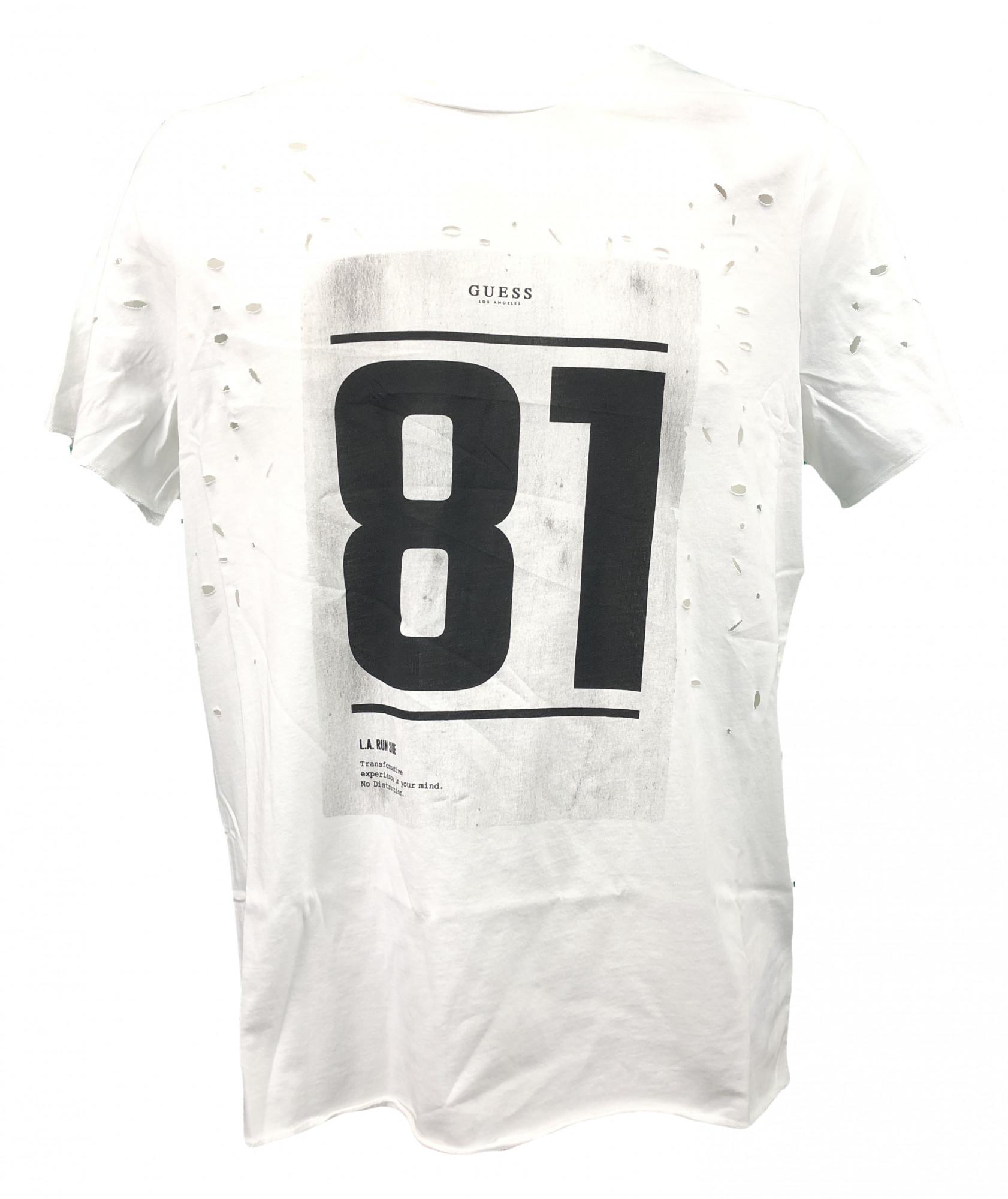 129937c76c Pánské tričko U92A05JR03D - Guess bílá L