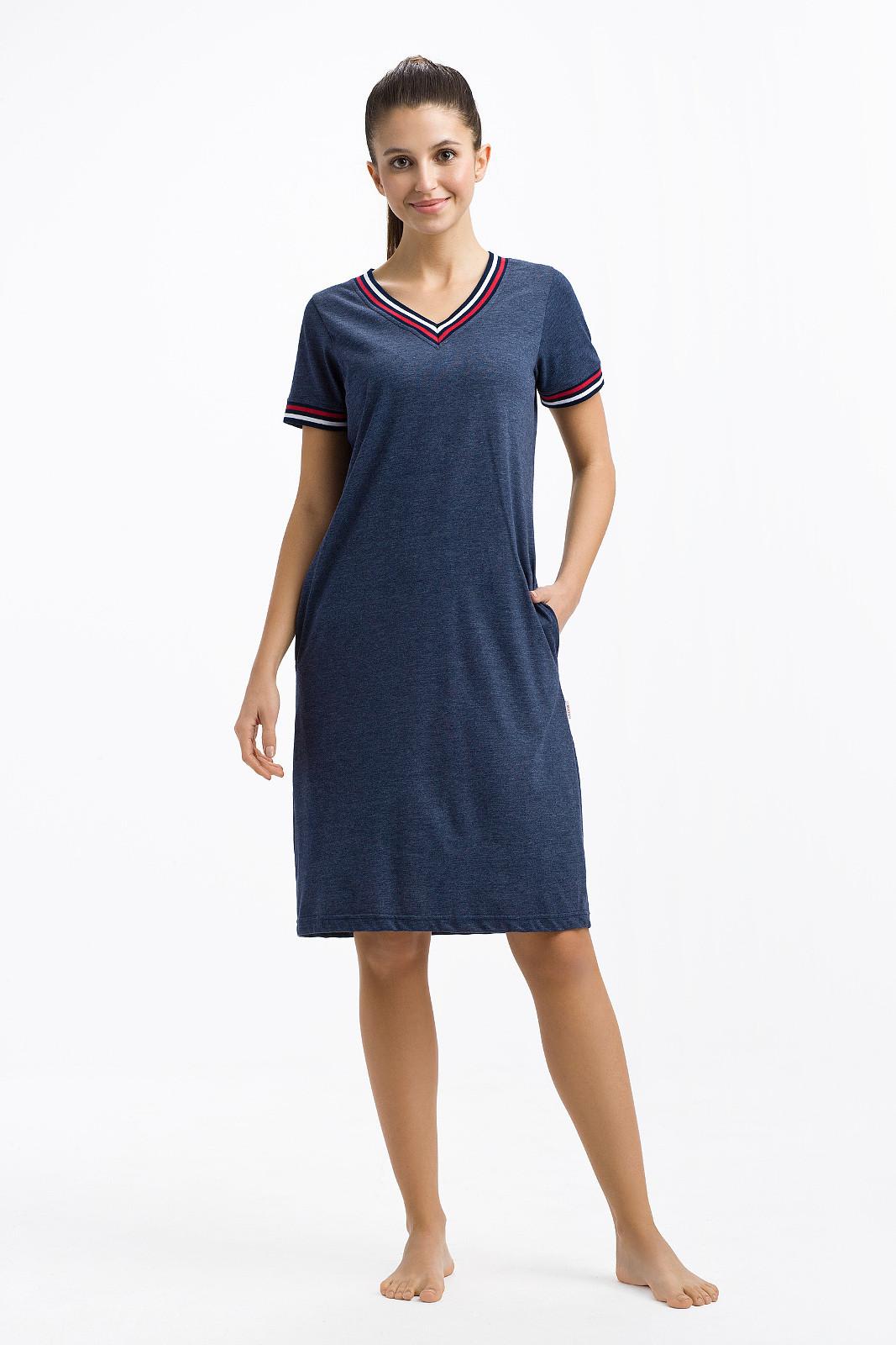 Dámská noční košile 248 - Luna tmavě modrá L