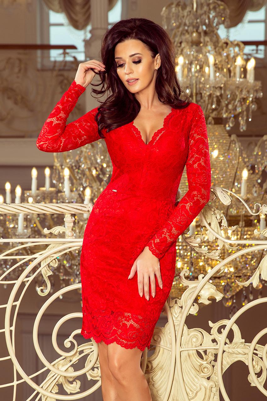 82ef50a98974 Dámské šaty 170-6 - Numoco červená XXL