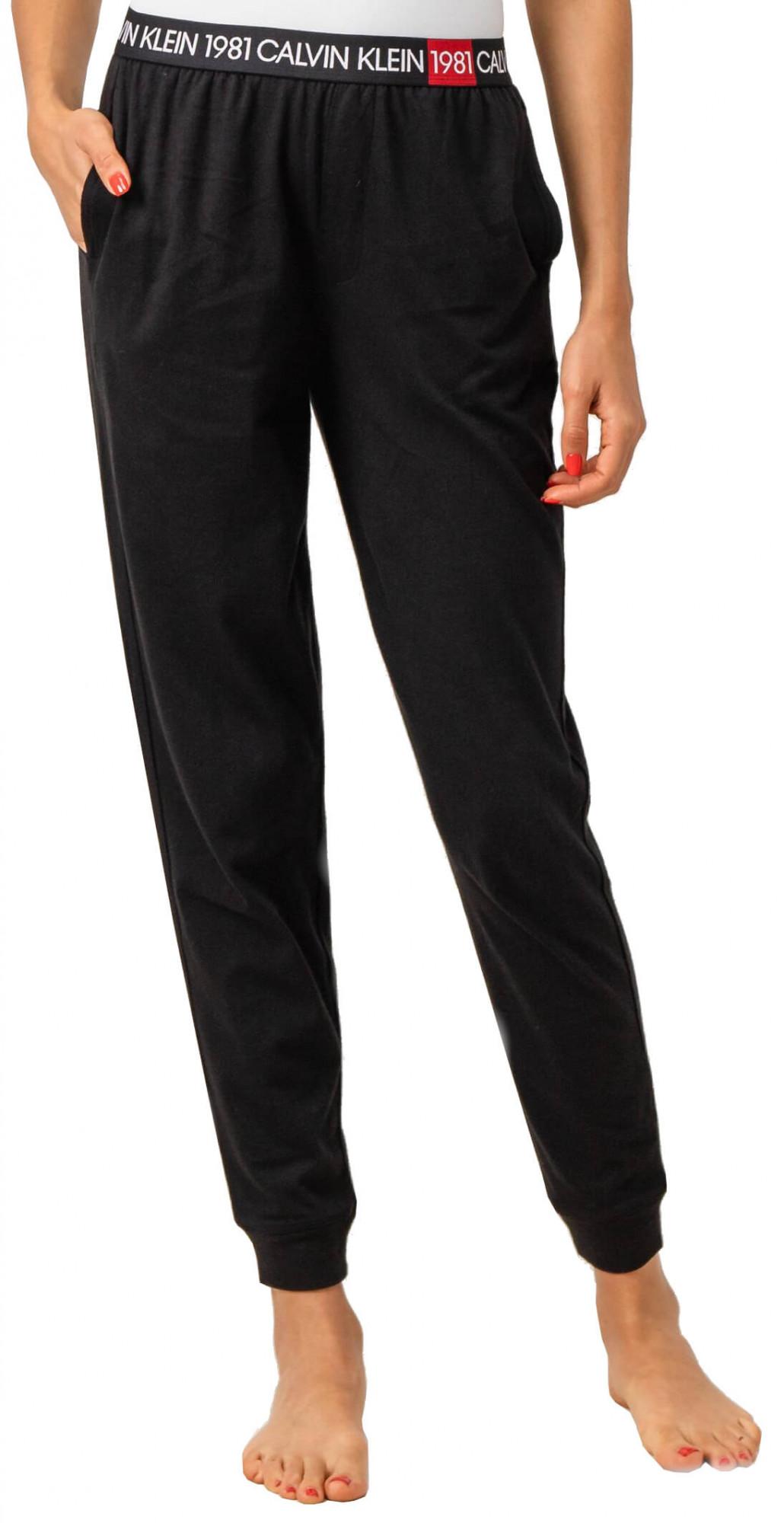 Dámské tepláky QS6311E-001 černá - Calvin Klein černá M