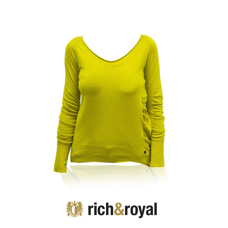 Dámský svetřík 23q112 - Rich Royal Barva: okrová, Velikost: L