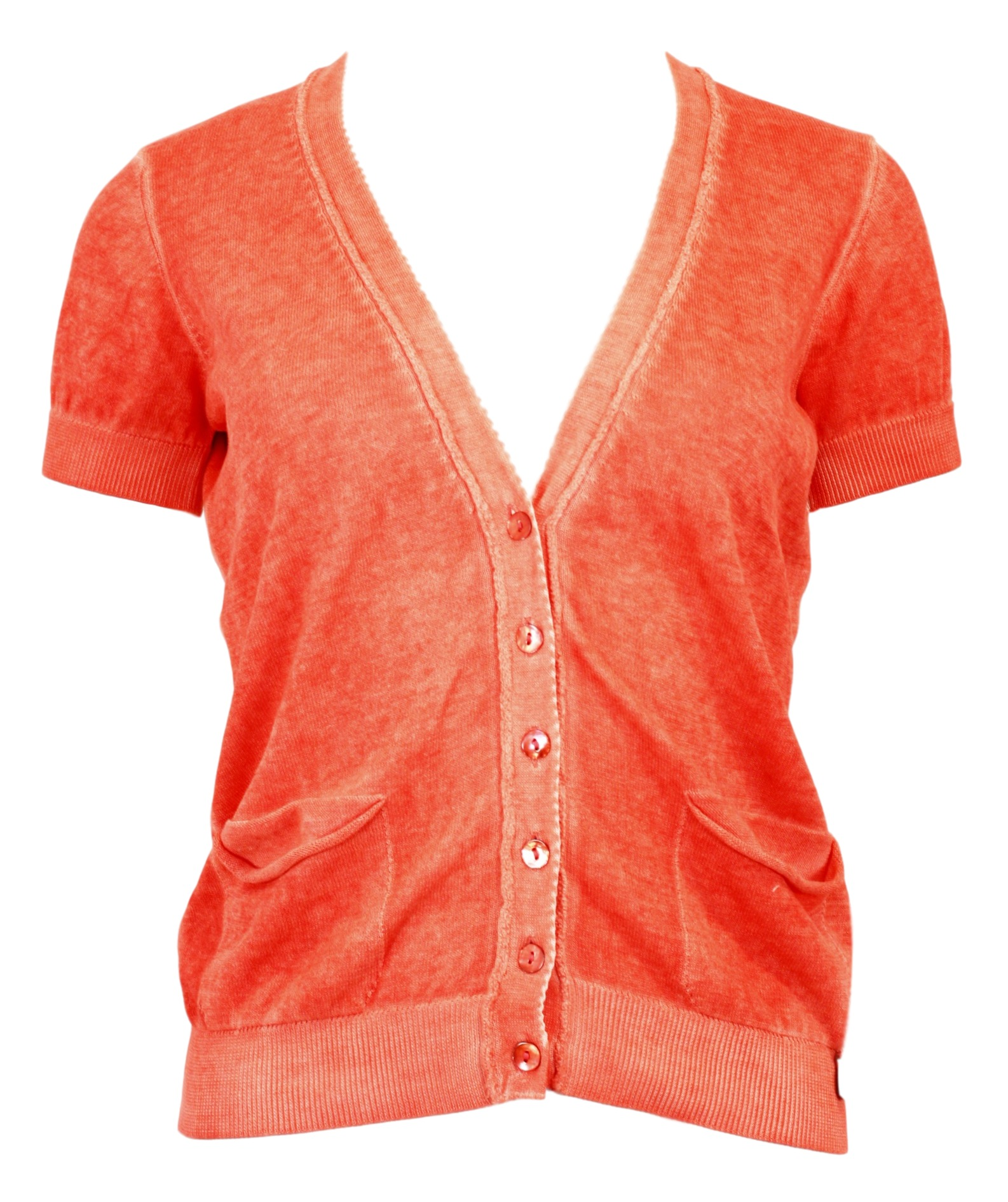 Dámský svetřík 15Q107 - Rich Royal Barva: korál, Velikost: S