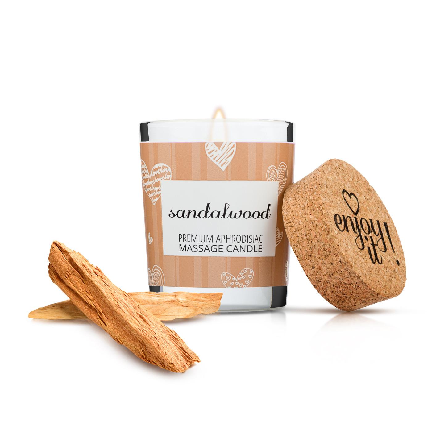 Masážní svíčka na tělo Enjoy it! Sandalwood - Magnetifico