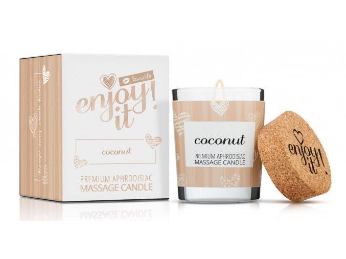 Masážní svíčka na tělo Enjoy it! Coconut - Magnetifico
