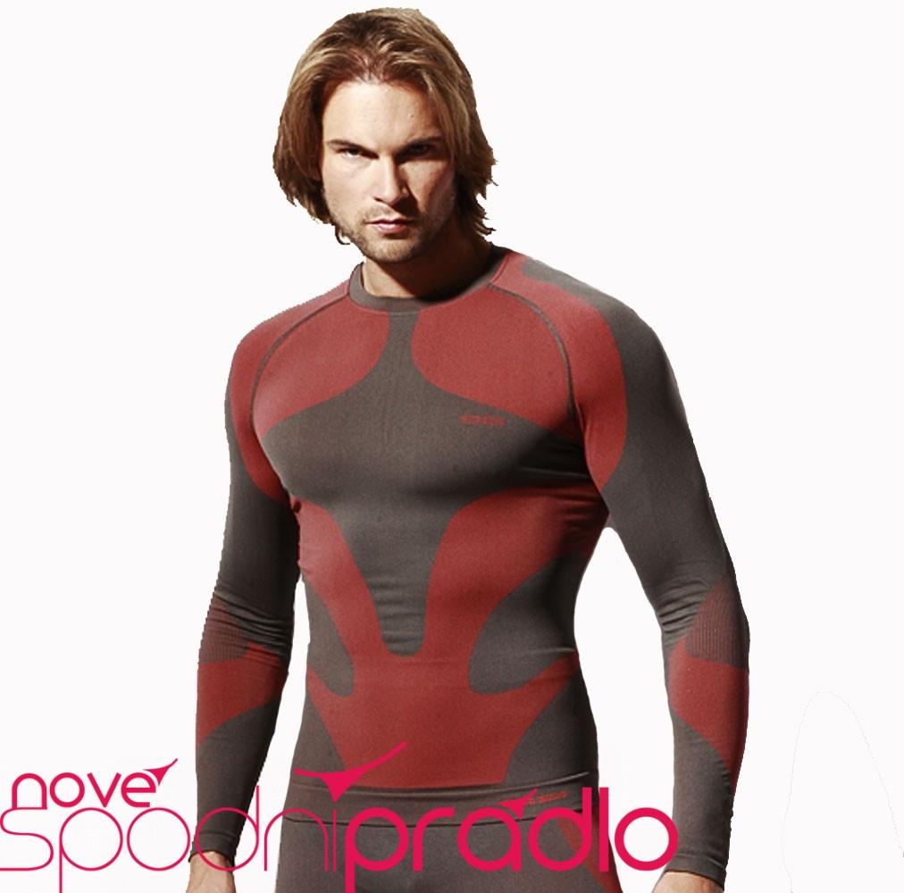 Pánské termotriko - Gatta active Barva: šedo-červená, Velikost: M