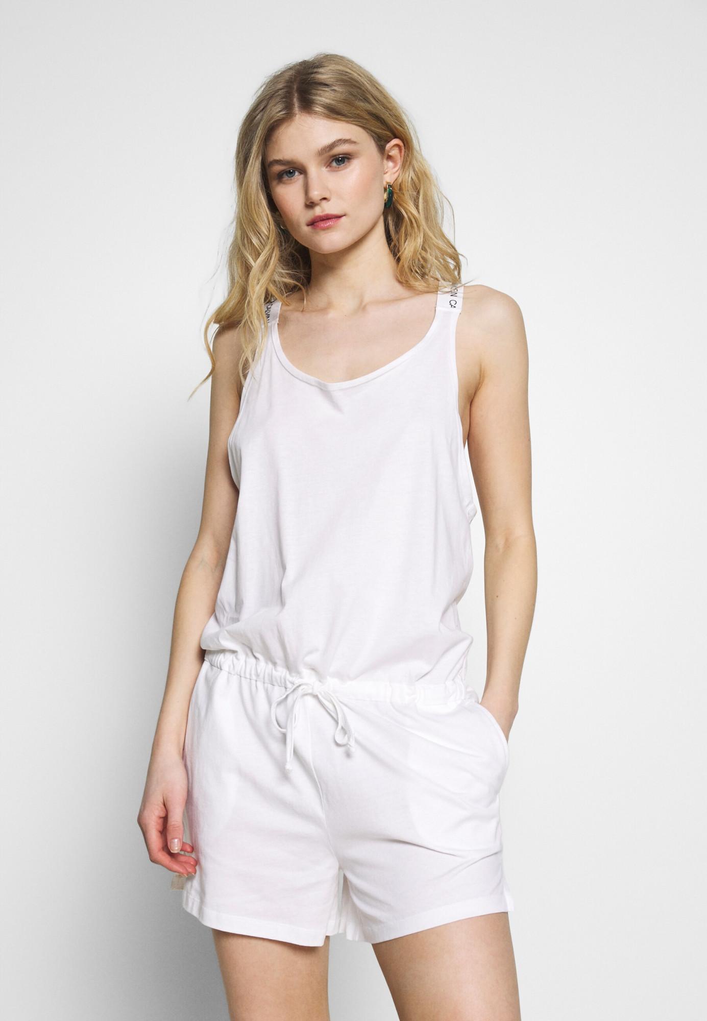 Plážový overál KW0KW01003-YCD bílá - Calvin Klein bílá M