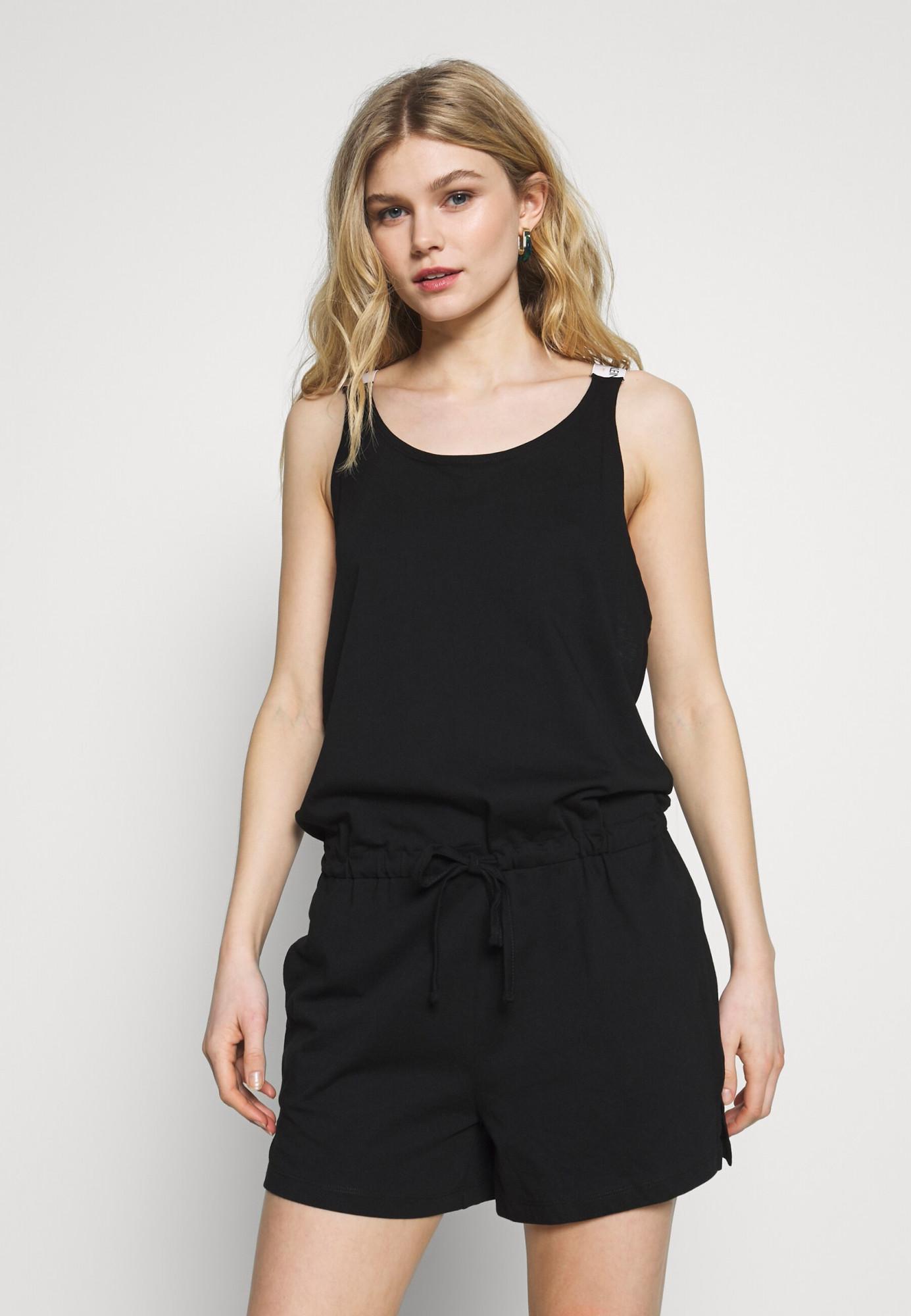 Plážový overál KW0KW01003-BEH černá - Calvin Klein černá M