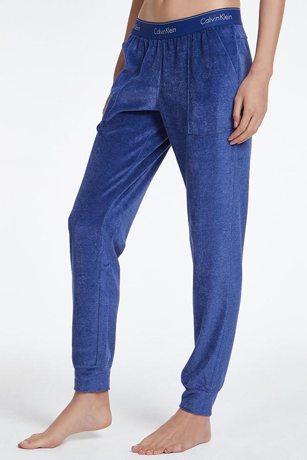 Dámské tepláky QS6147E-6YN modrá - Calvin Klein modrá S