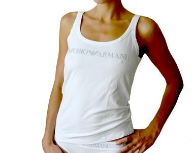 Dámské tílko - Emporio Armani barva: bílá, velikost: S