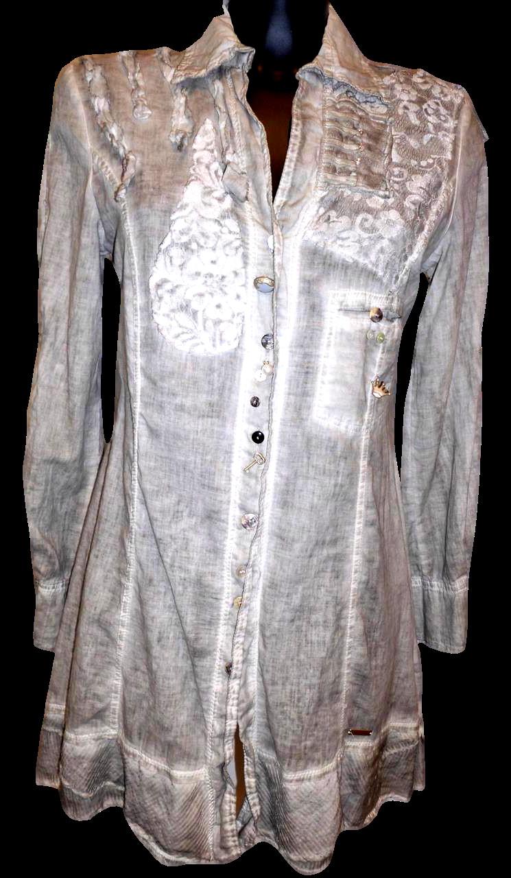 Dámská košile MSB81 - Morgana Barva: šedá, Velikost: L