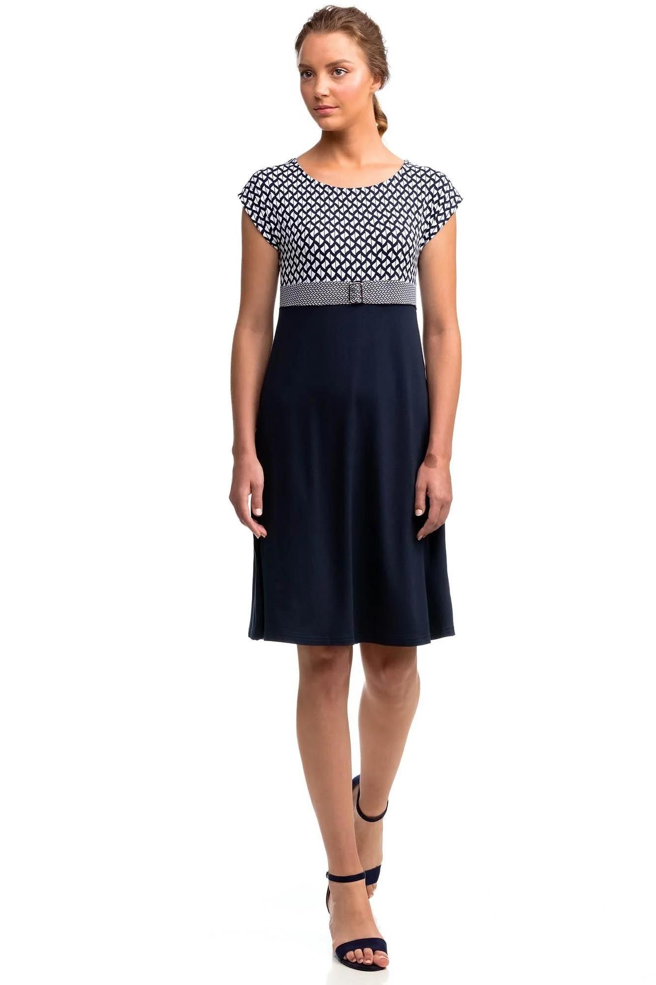 Dámské šaty 14452 - Vamp černo - bílá S