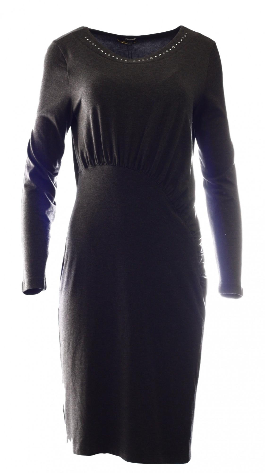 Šaty Bernarde - Favab Barva: antracit, Velikost: L