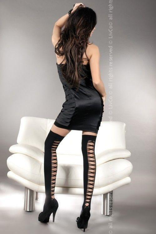 Punčochy Sheila - LivCo Corsetti Barva: černá, Velikost: S/L