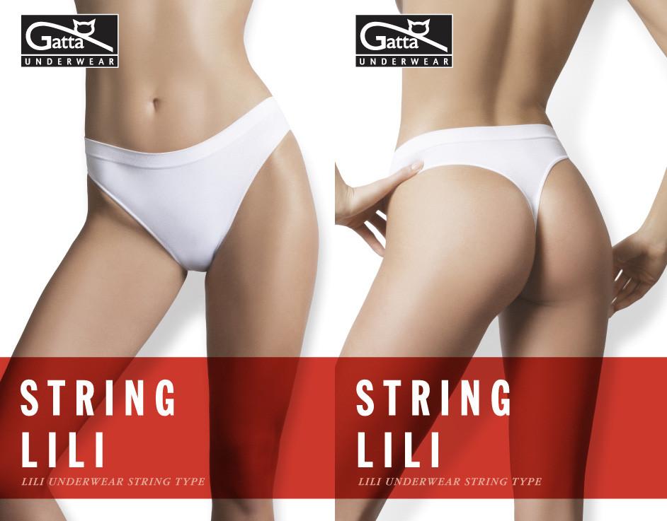 Tanga String Lili - Gatta Barva: bílá, Velikost: XL