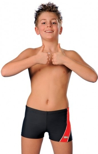 Chlapecké plavkové boxerky Sesto Senso NR BDT 635 Barva: černo-modrá, Velikost: 134-140