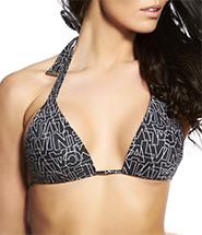 Vrchní díl plavek 59889Y3 - Calvin Klein barva: černo/bílá, velikost: L