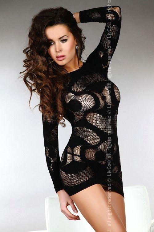 Šaty Ava - Livia Corsetti Barva: černá, Velikost: S/L