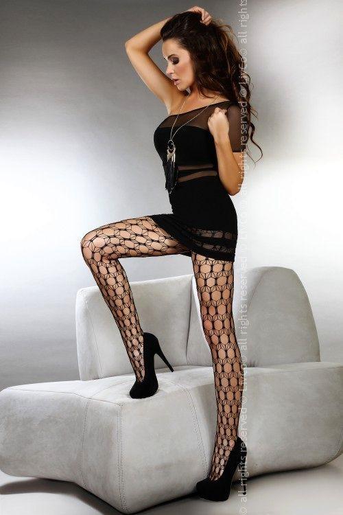 Punčochy Adira - Livia corsetti Barva: černá, Velikost: S/L