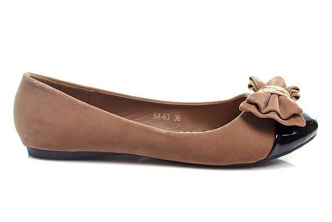 BÉŽOVÉ SMYSLNÉ BALERÍNKY SA-63 - Fashion Boty Barva: béžová, Velikost: 36