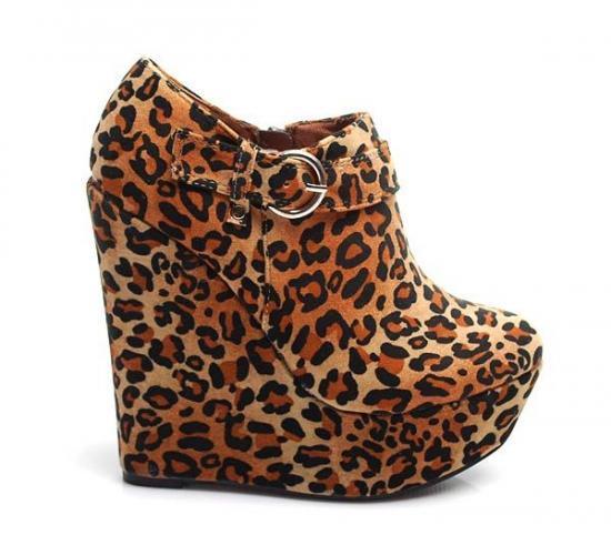 ORIGINÁLNÍ PLATFORMY NA KLÍNU RMD871LE - Fashion Boty Barva: leopard, Velikost: 39