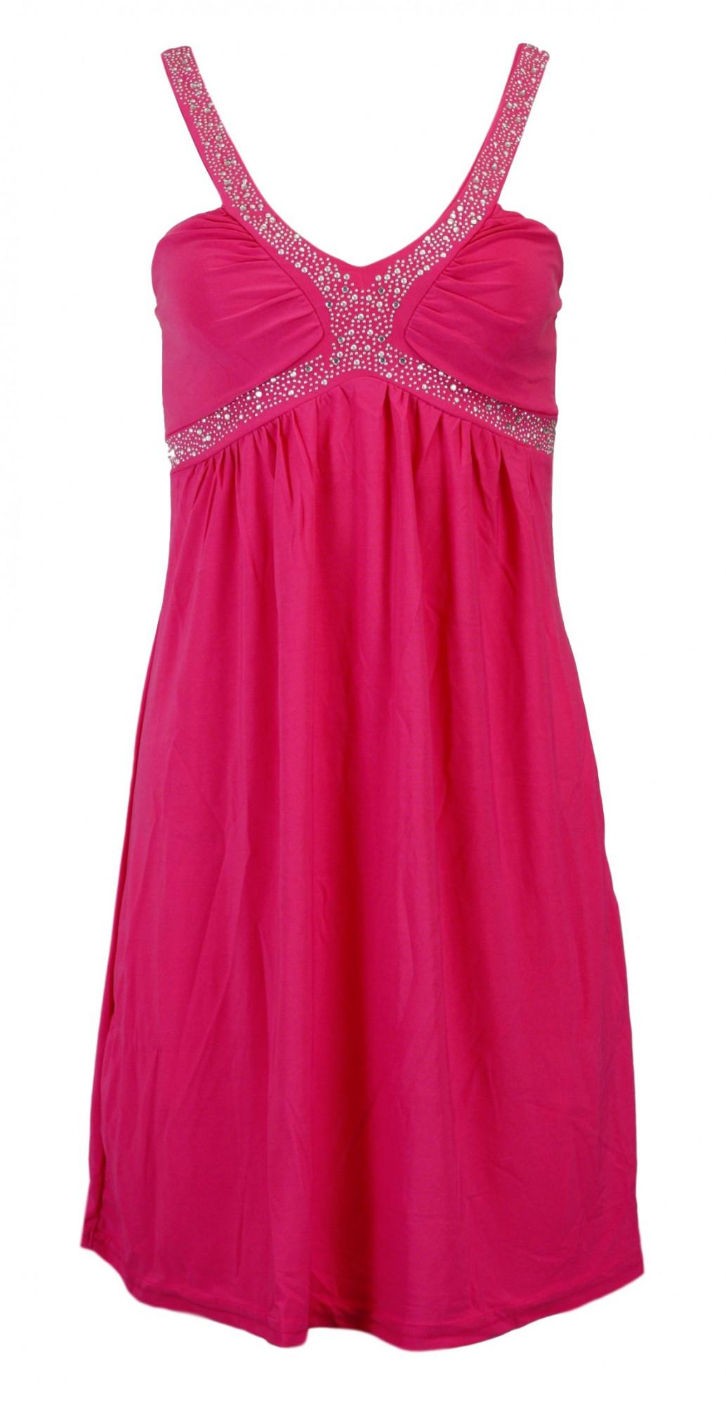 Dámské šaty In-Stylefashion 5336 - Gemini Barva: fuchsia, Velikost: XS