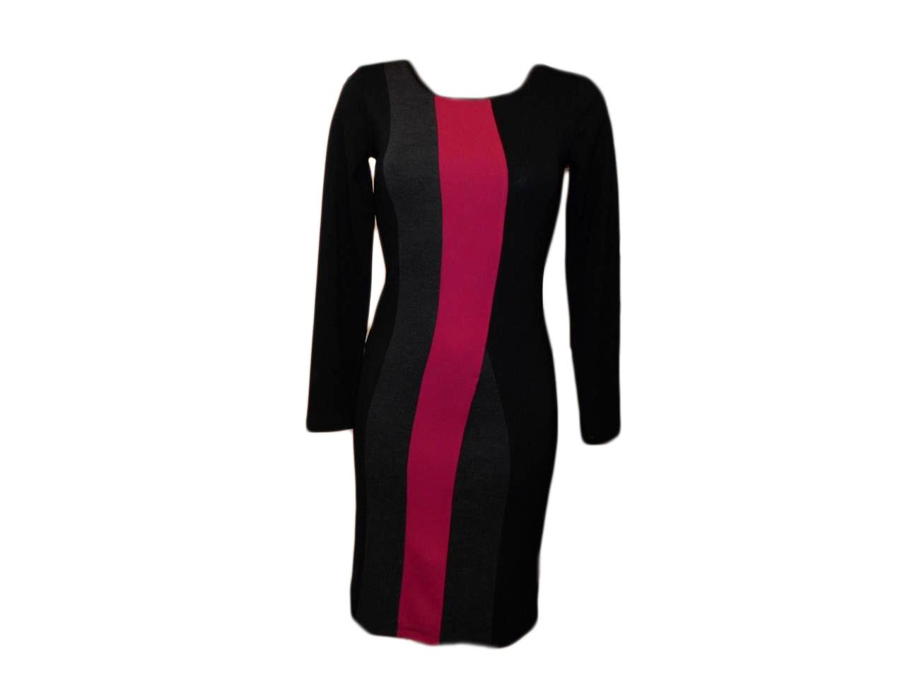 Dámské šaty Mika DR - Favab Barva: černo-šedá, Velikost: S