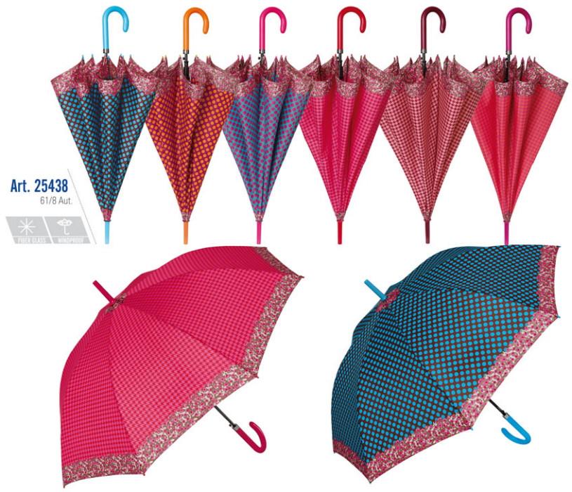 Dámský deštník 25438 - Perletti Barva: sv. modrá puntík