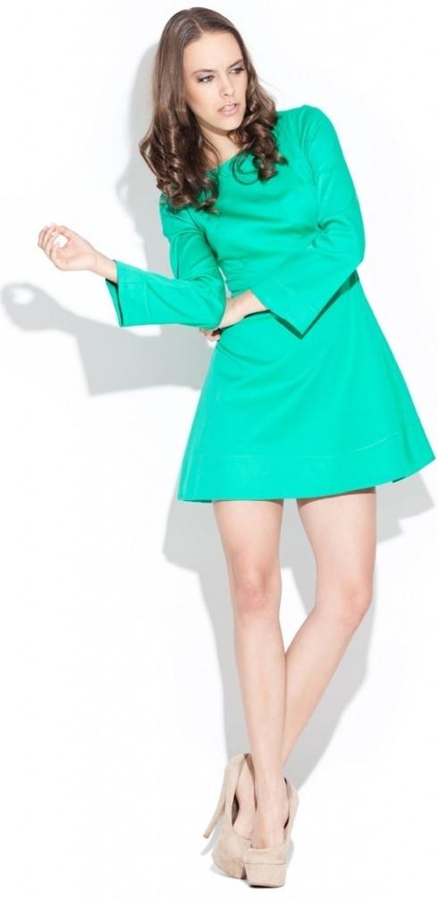 Dámské šaty zelené K006 - Katrus Barva: zelená, Velikost: S