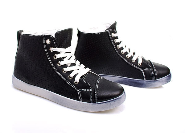 Vysoké tenisky BK-108 - Fashion Boty Barva: černá, Velikost: 41
