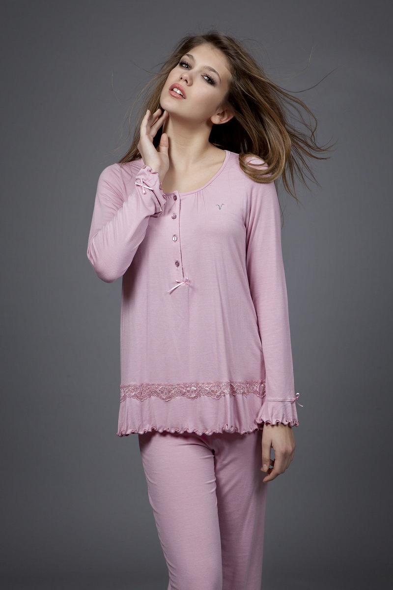 Dámské pyžamo 1498 - Vamp Barva: tmavě fialová, Velikost: XXL