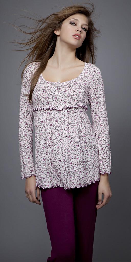 Dámské pyžamo 1492 - Vamp Barva: fialová, Velikost: XXL