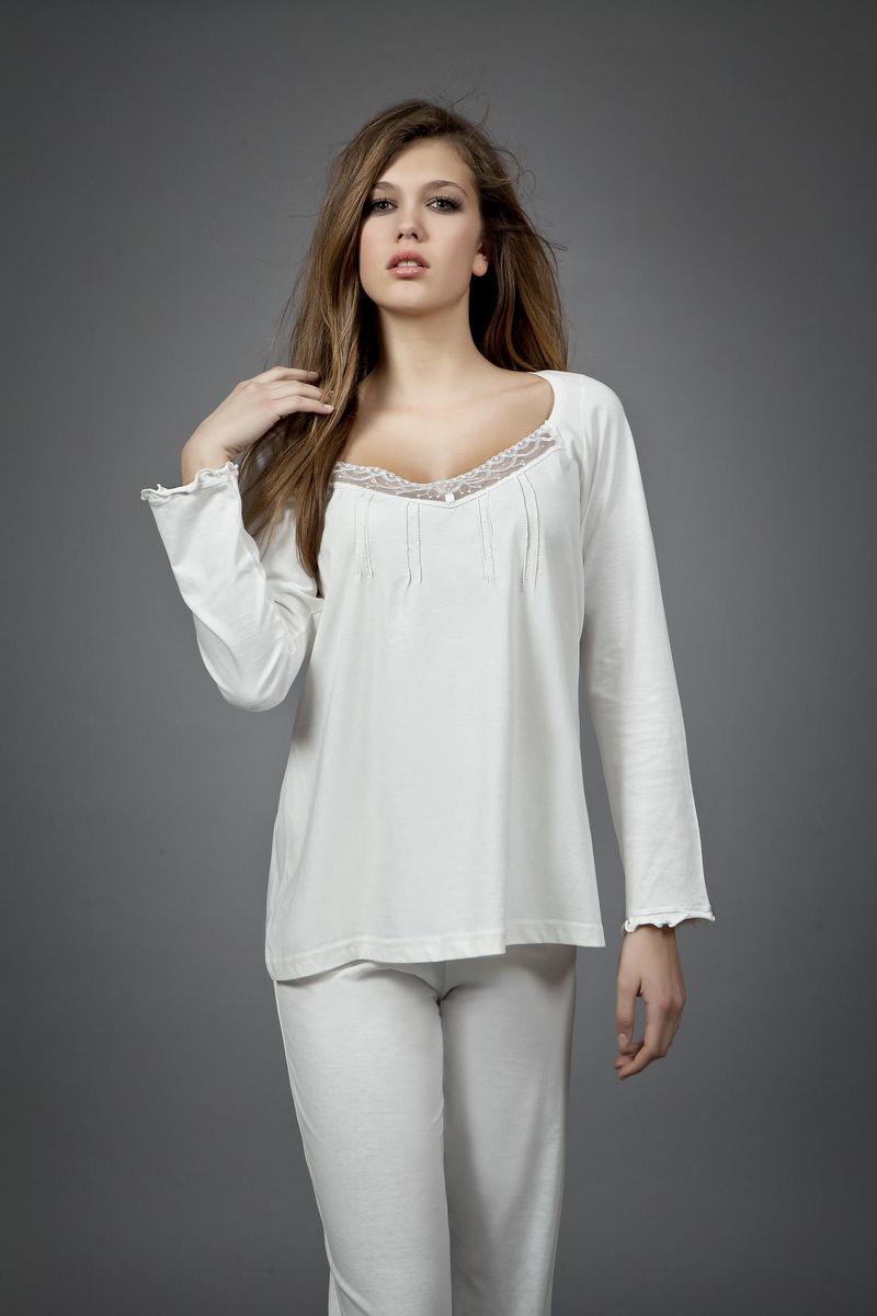 Dámské pyžamo 1454 - Vamp Barva: krémová, Velikost: XXL