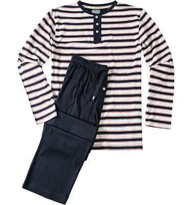 Pánské pyžamo 57010 - Jockey Barva: modrá-proužek, Velikost: M