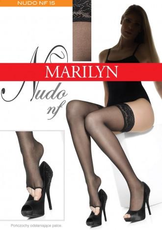 Samodržící punčochy s volnou špičkou Nudo nf Marilyn - Gemini Barva: černá, Velikost: 3-4