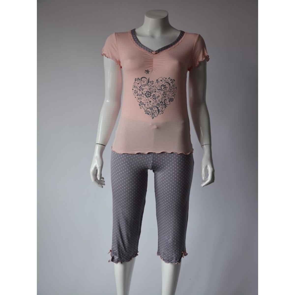 Dámské pyžamo 659 KK - CoCoon Barva: světle růžová, Velikost: XL