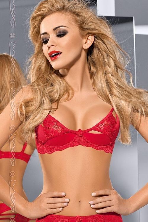 Podprsenka V-5361 - Axami Barva: červená, Velikost: 75A