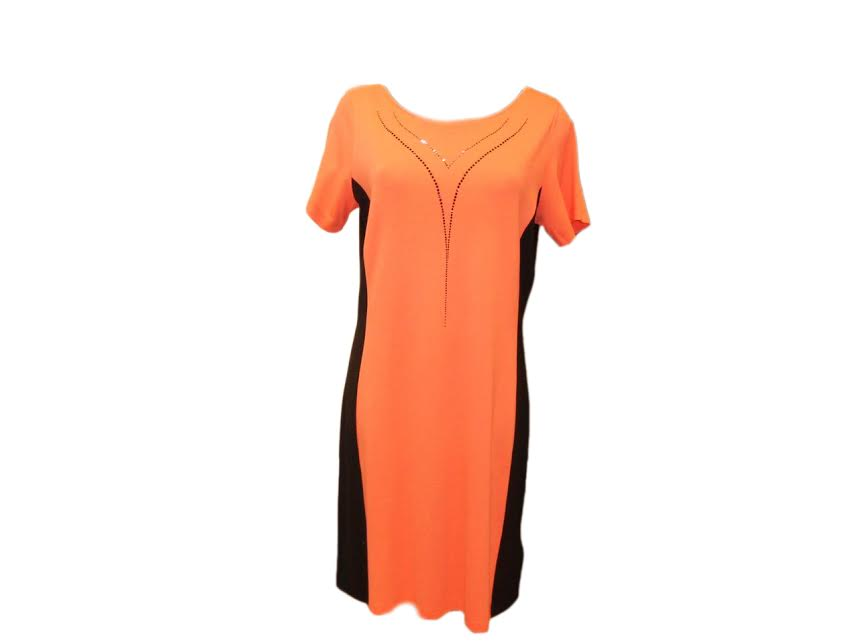 Dámské šaty Seti KR - Favab Barva: lososová, Velikost: L