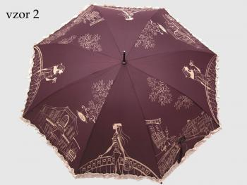 Dámský deštník holový Kavárna Perletti Barva: modrá