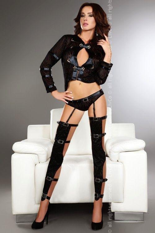 Sexy kostým Erna - Livia Corsetti černá L